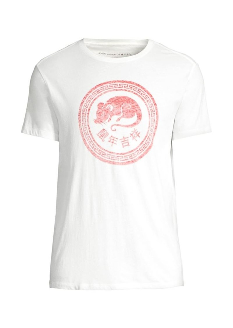John Varvatos Chinese New Year Rat Circle T-Shirt