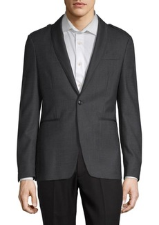 John Varvatos Classic Shawl Collar Epaulette Jacket