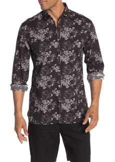John Varvatos Clayton Floral Print Regular Fit Long Sleeve Shirt
