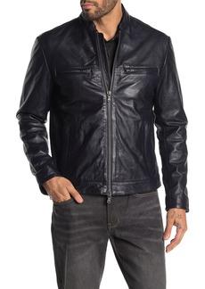 John Varvatos Clean Cafe Racer Leather Jacket
