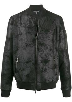 John Varvatos coated bomber jacket
