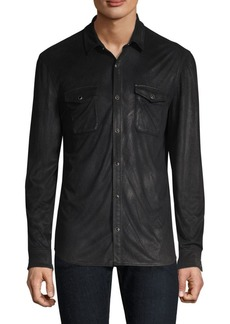 John Varvatos Coated Button-Front Shirt