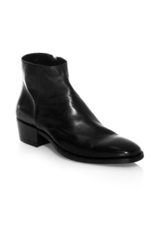 John Varvatos COLLECTION Ludlow Leather Zip Ankle Boots