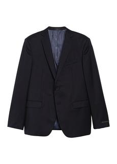 John Varvatos Solid Navy Two Button Notch Lapel Wool Blend Suit Separates Jacket