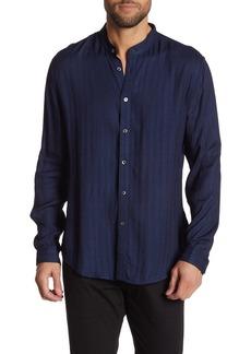 John Varvatos Slim Fit Contrast Pipe Detailing Shirt