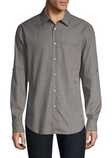 John Varvatos Cotton Button-Front Shirt