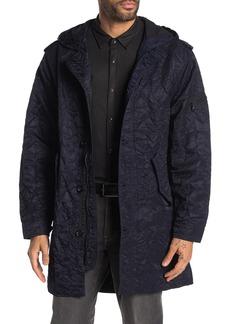 John Varvatos Crinkle Nylon Hooded Coat