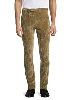 John Varvatos Crushed Velvet Slim-Fit Pants