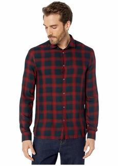 John Varvatos Dedrick Long Sleeve Clean Front Sport Shirt, Bluff Edge W613V3B