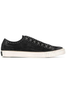 John Varvatos denim laceless sneakers