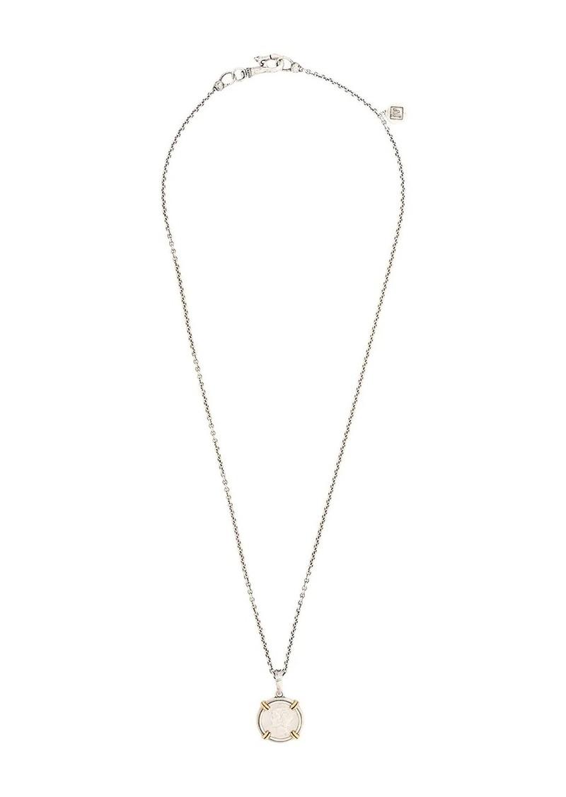 John Varvatos dime pendant necklace
