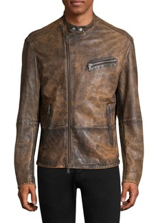 John Varvatos Distressed Leather Moto Jacket