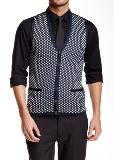 John Varvatos Dotted Sweater Vest