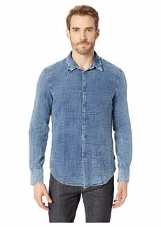 John Varvatos Double Weave Window Pane Long Sleeve Button
