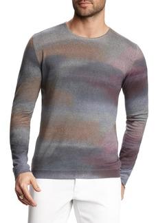 John Varvatos Dyed Stripe Merino Wool Sweater