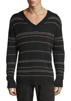 John Varvatos Easy-Fit Jacquard Stripe Sweater