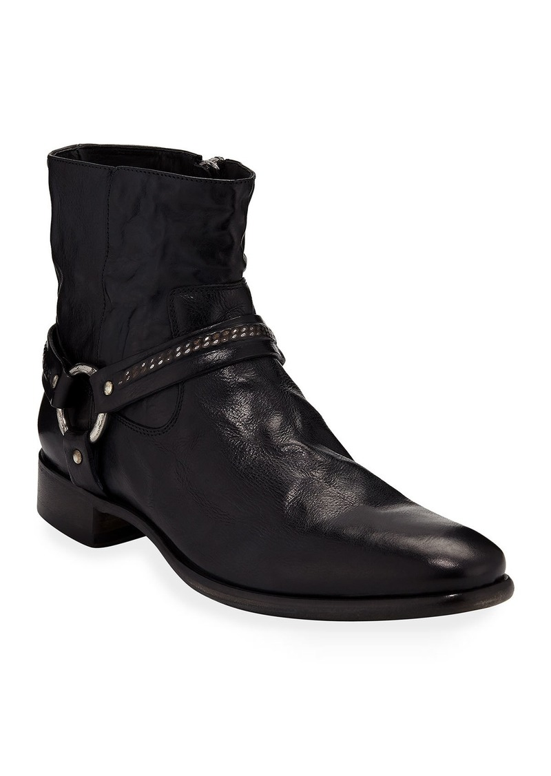John Varvatos Eldridge Leather Harness Boot
