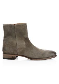 John Varvatos Eldridge Suede Zip Ankle Boots