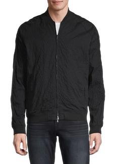John Varvatos Embellished Cotton-Blend Bomber Jacket