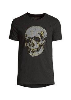 John Varvatos Embroidery Skull Graphic T-Shirt