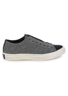 John Varvatos Engineered Slip-On Sneakers