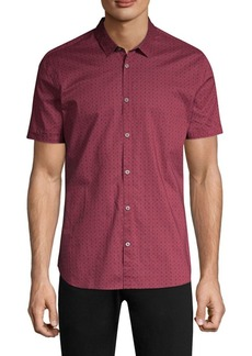 John Varvatos Faded Print Cotton Button-Down Shirt