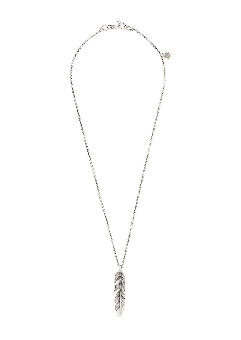 John Varvatos feather pendant necklace