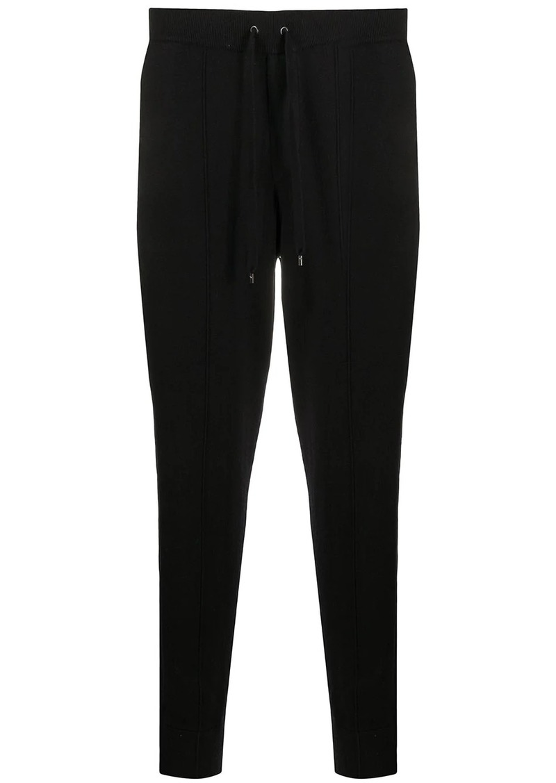 John Varvatos fine knit track trousers