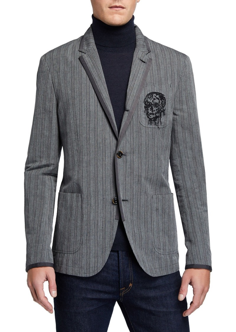 John Varvatos Finley 2 To 4 Notch Work Style Soft Jacket
