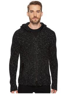 John Varvatos Fisherman Ribbed Sweater Hoodie