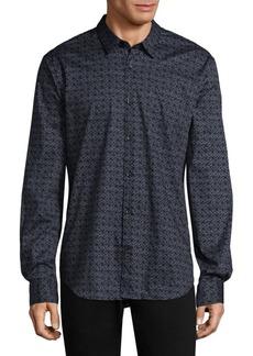 John Varvatos Flagstone Cotton Casual Button-Down Shirt