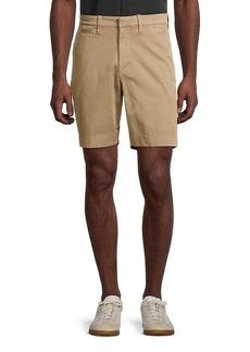 John Varvatos Flat-Front Stretch-Cotton Shorts