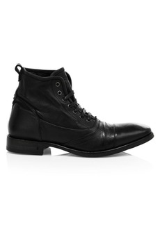John Varvatos Fleetwood Leather Lace-Up Combat Boots