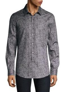 John Varvatos Floral Button-Front Shirt