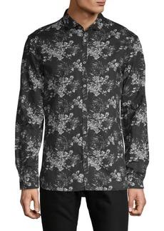John Varvatos Floral Long-Sleeve Shirt