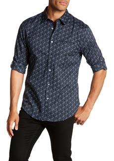 John Varvatos Floral Long Sleeve Slim Fit Shirt