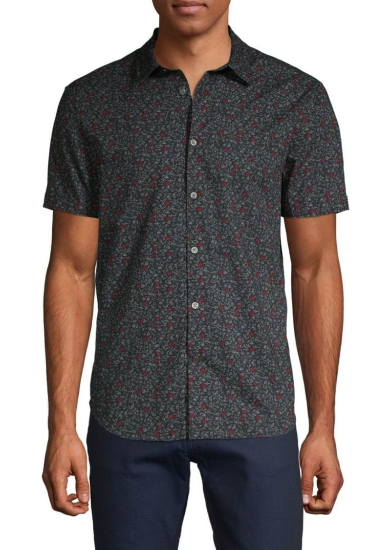 John Varvatos Floral-Print Button-Down Shirt