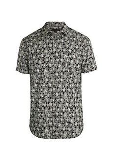 John Varvatos Floral Short-Sleeve Shirt