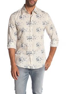 John Varvatos Floral Slim Fit Print Shirt