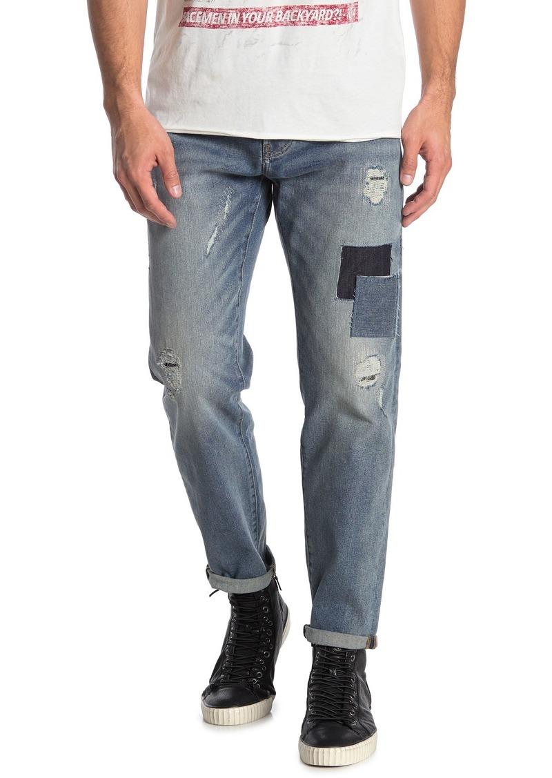 John Varvatos Garage Patchwork Tapered Jeans