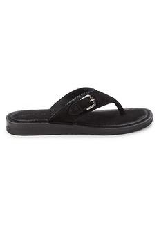 John Varvatos Havana Suede Thong Sandals