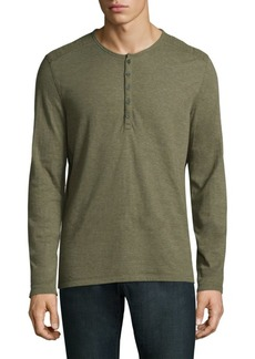 John Varvatos Heathered Henley
