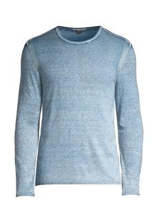 John Varvatos Heathered Silk & Cashmere Sweater
