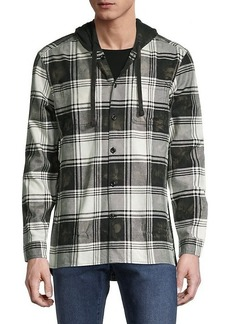 John Varvatos Holger Easy-Fit Plaid Shirt Jacket