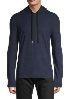 John Varvatos Hooded Cotton-Blend Sweater