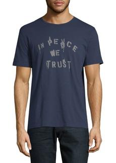 John Varvatos In Peace We Trust Cotton Tee
