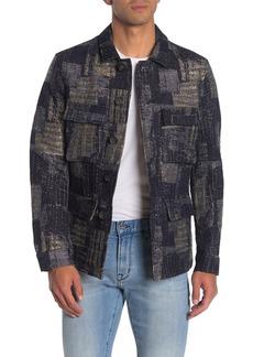 John Varvatos Jacquard Easy Fit Military Jacket