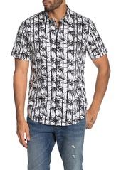 John Varvatos Jasper Bamboo Print Slim Fit Hawaiian Shirt