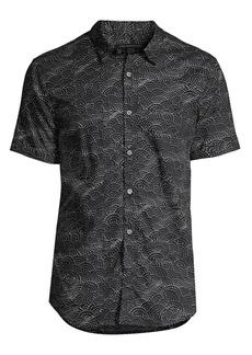 John Varvatos Jasper Fish Scale Graphic Short-Sleeve Shirt