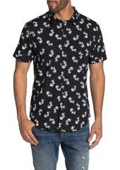 John Varvatos Jasper Palm Print Regular Fit Shirt